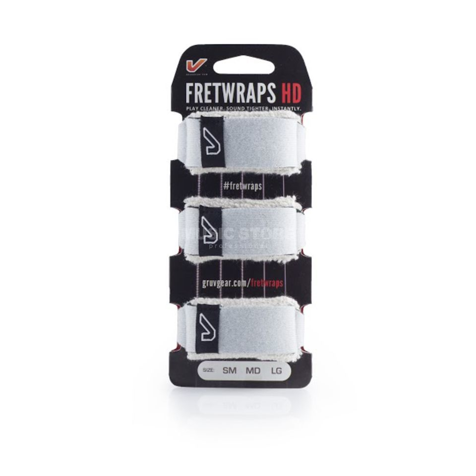 Gruv Gear Fret Wraps HD Stone White Medium, 3er Pack Product Image