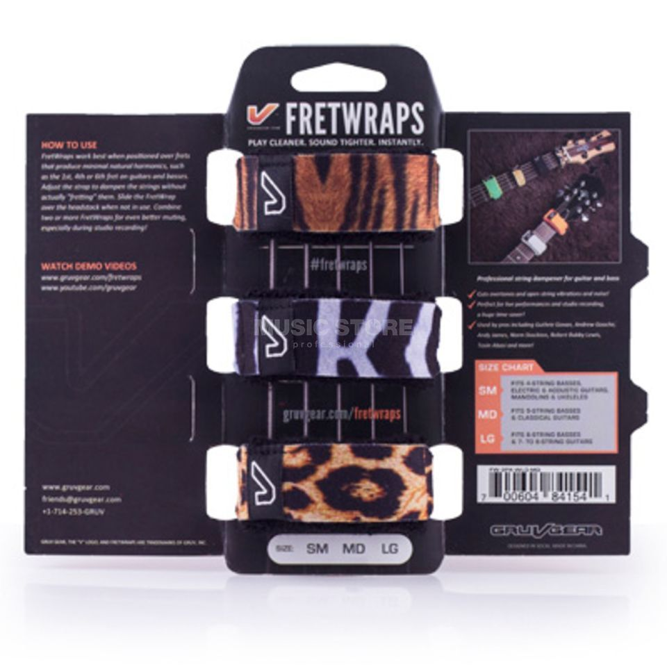 Gruv Gear Fret Wraps Wild Small Mixpack Produktbillede