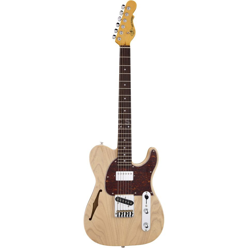 G&L Asat Classic Bluesboy Blonde Semi Hollow Produktbild