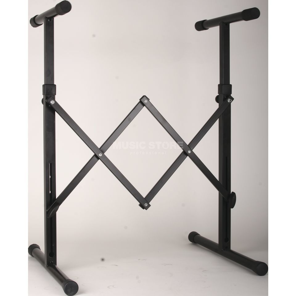GVI keyboard stand, black 590-800 mm Produktbillede