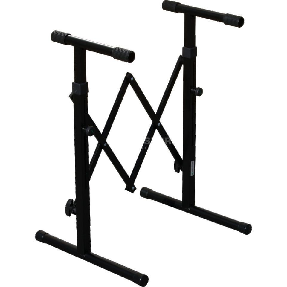 GVI Keyboard Stand, black 60-78 cm, stor. place 30 cm Product Image