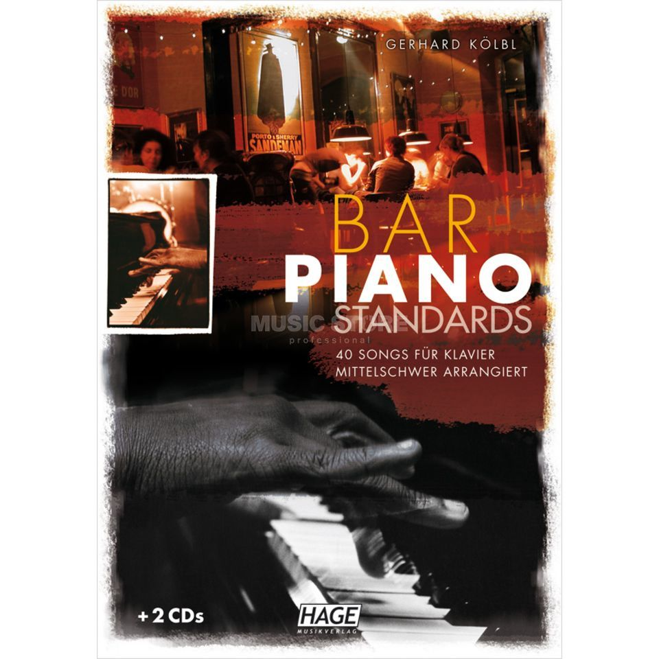 Hage Musikverlag Bar Piano Standards Produktbillede