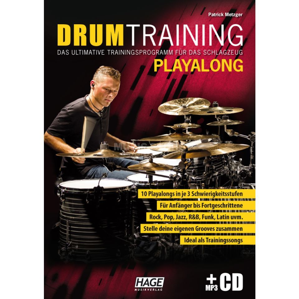 Hage Musikverlag Drum Training Playalong Patrick Metzger, met MP3-CD Productafbeelding