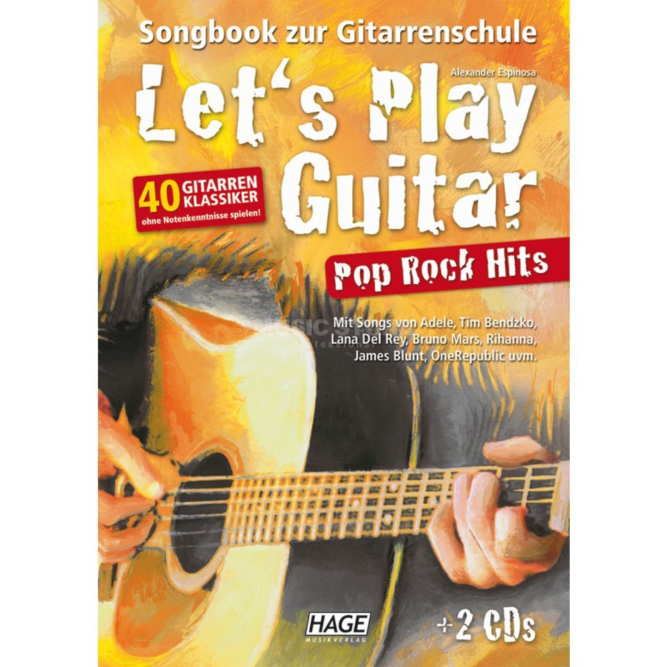 Hage Musikverlag Let's Play Guitar Pop Rock Hits Produktbild