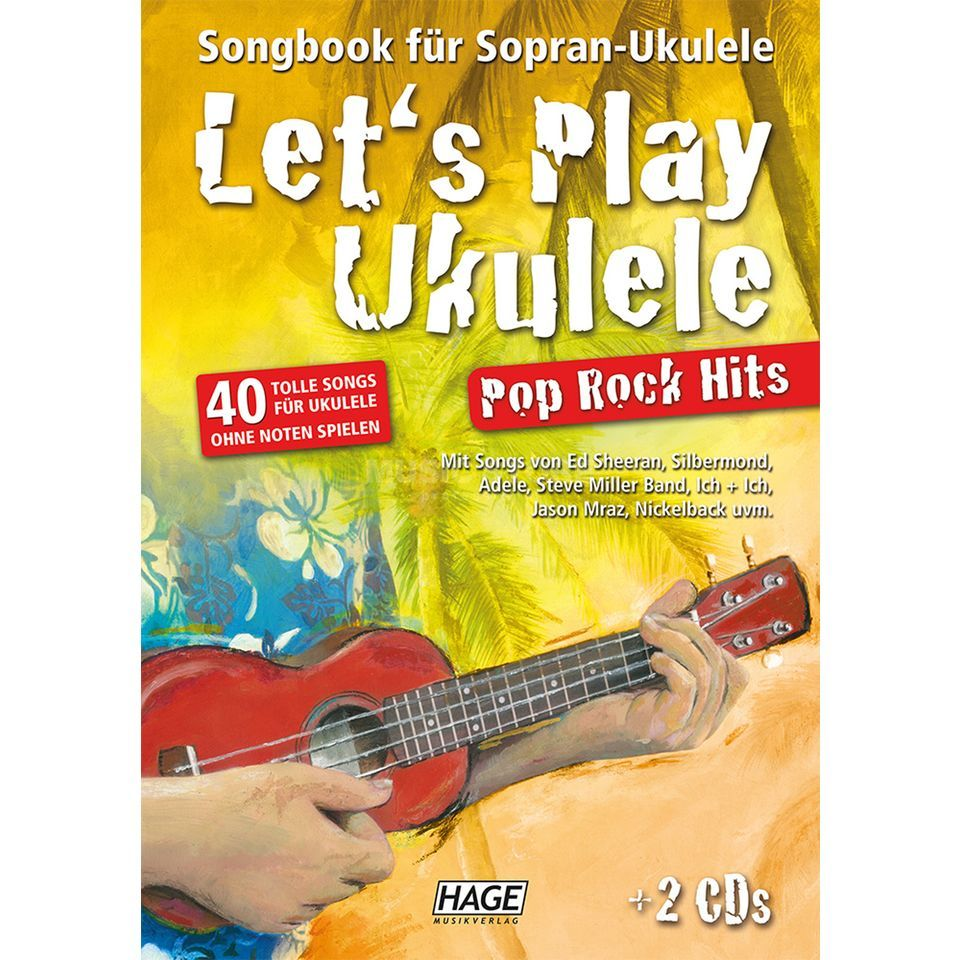 Hage Musikverlag Let's Play Ukulele Pop Rock Hits, 2 CDs Produktbild
