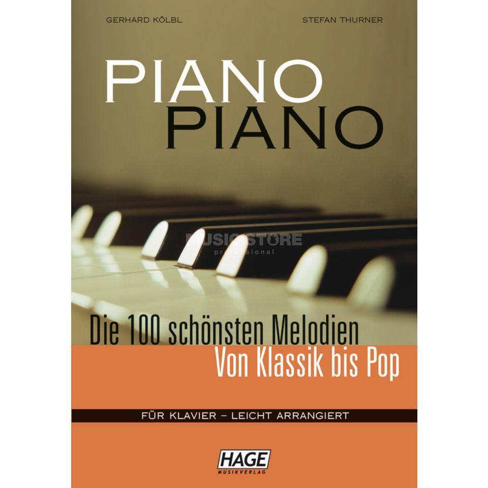 Hage Musikverlag Piano Piano - 100 Melodies  Produktbillede