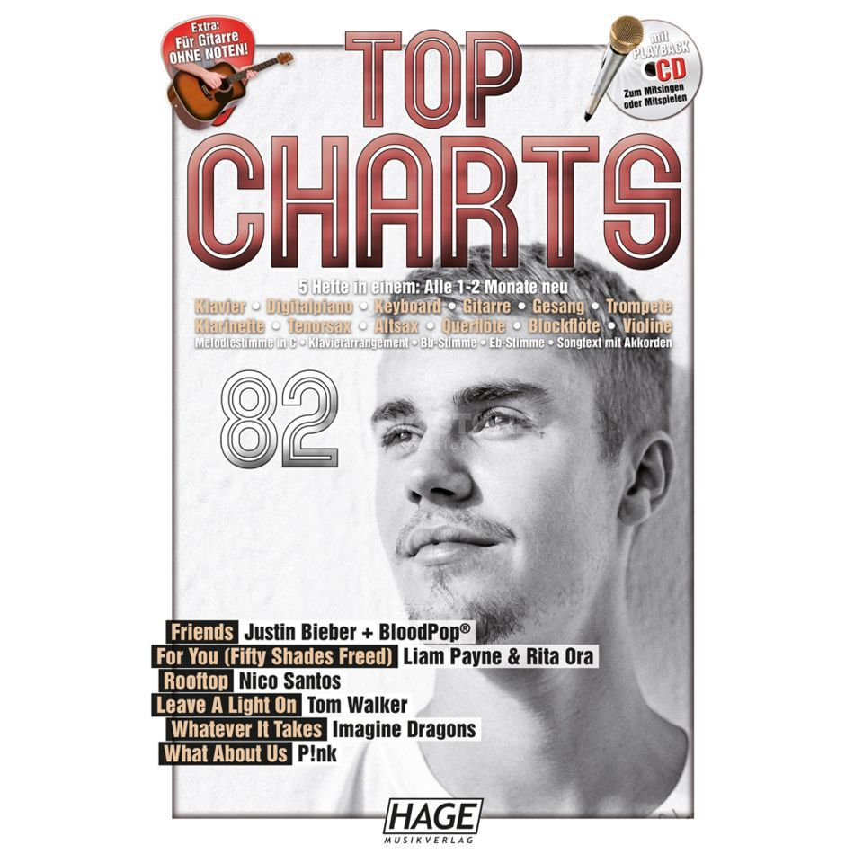 Hage Musikverlag Top Charts 82 Product Image