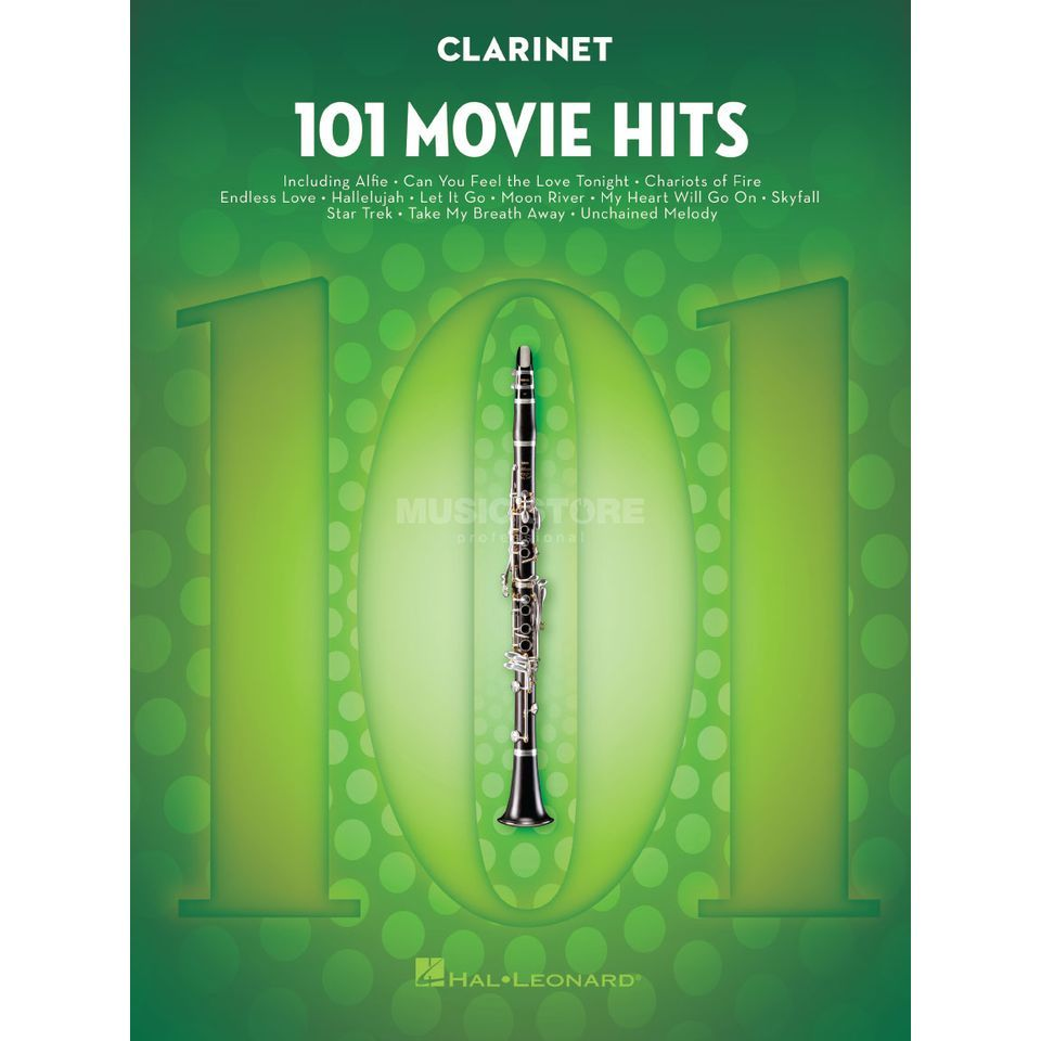 Hal Leonard 101 Movie Hits For Clarinet Zdjęcie produktu