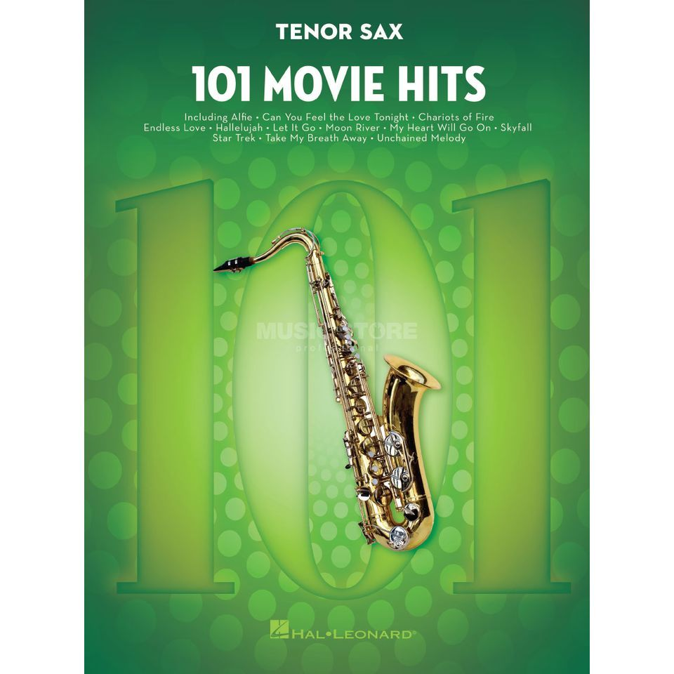 Hal Leonard 101 Movie Hits For Tenor Saxophone Produktbillede