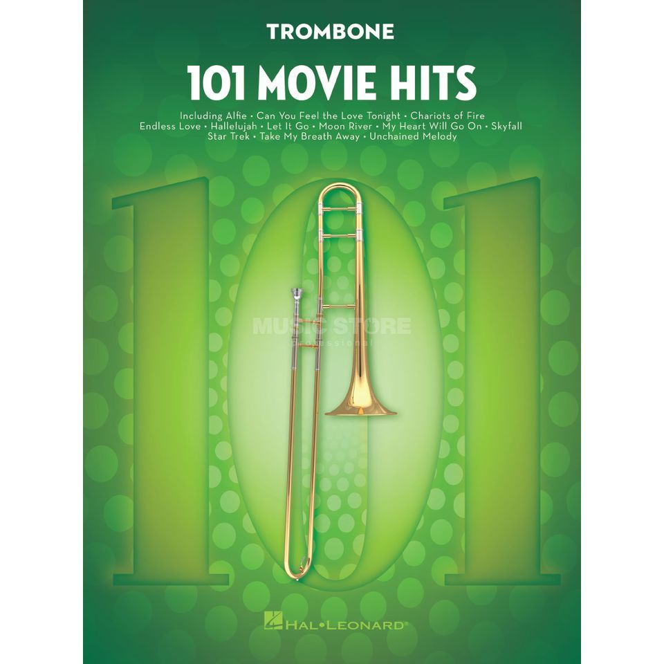 Hal Leonard 101 Movie Hits For Trombone Produktbillede