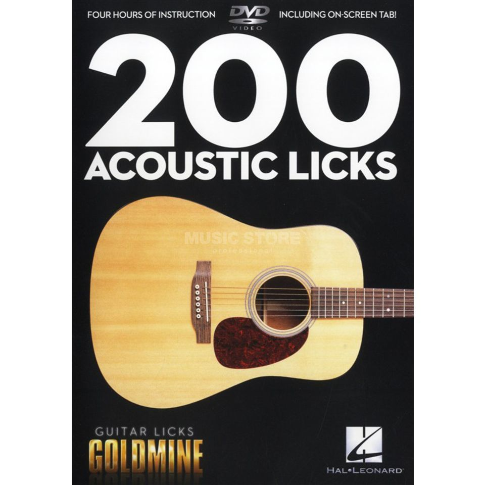 Hal Leonard 200 Acoustic Licks DVD Produktbild