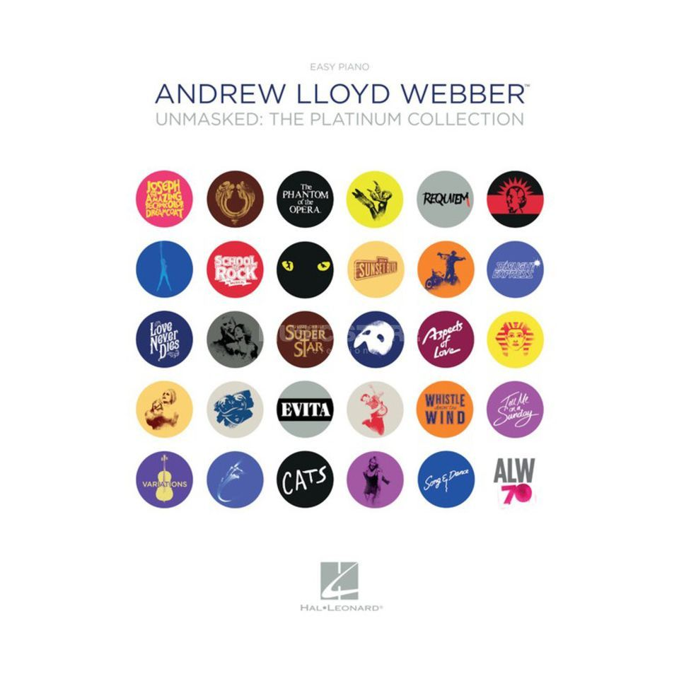 Hal Leonard Andrew Lloyd Webber: Unmasked - The Platinum Collection Product Image