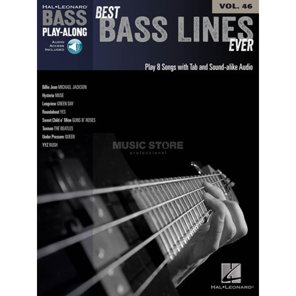 Hal Leonard Bass Play-Along - Best Bass Lines Ever Vol. 46, Bass TAB Produktbild