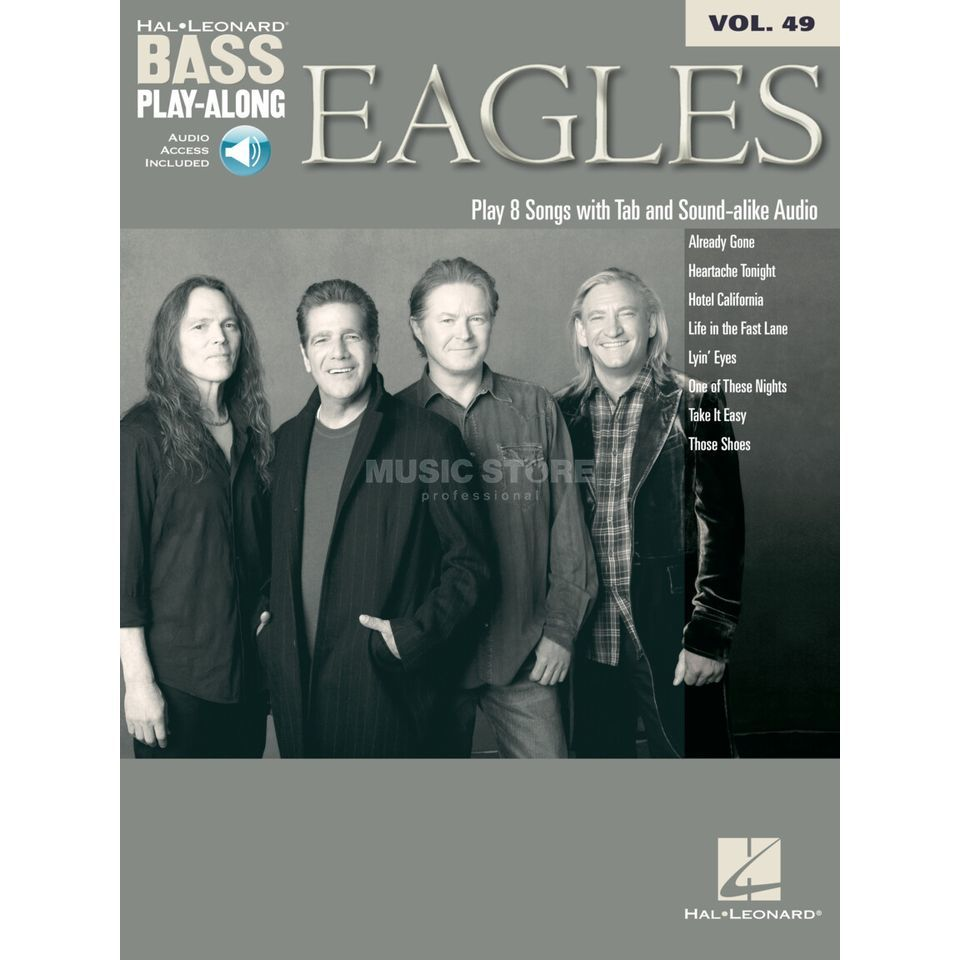 Hal Leonard Bass Play-Along - Eagles Vol. 49, Bass TAB Product Image