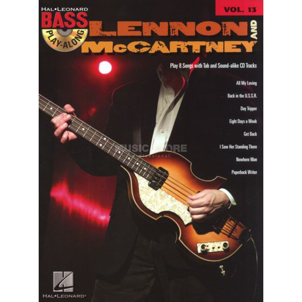 Hal Leonard Bass Play-Along - Lennon And McCartney Vol. 13, Bass TAB Produktbild