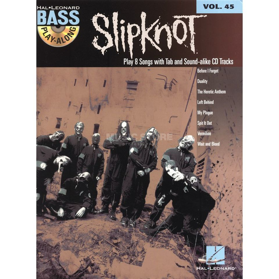 Hal Leonard Bass Play-Along - Slipknot Vol. 45, Bass TAB Produktbild