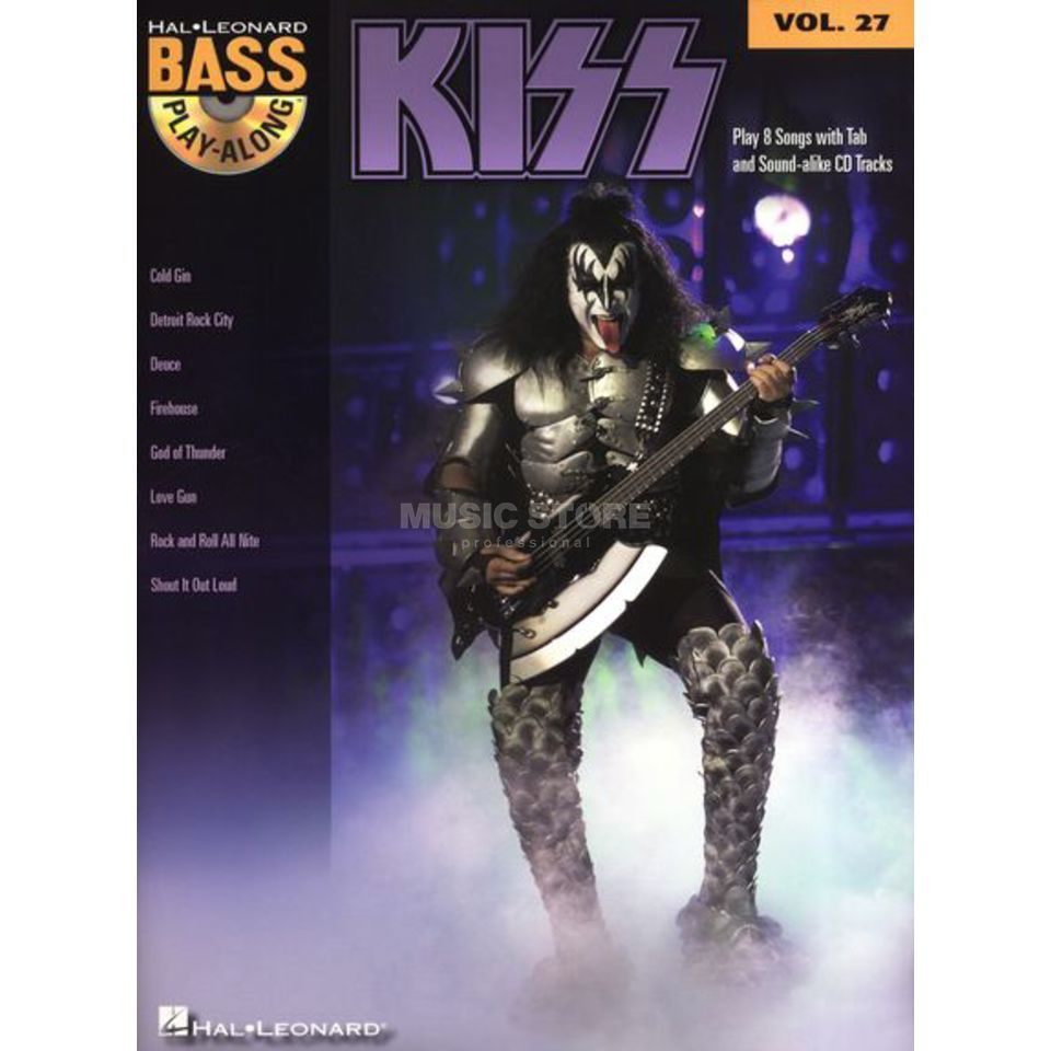 Hal Leonard Bass Play-Along Volume 27: Kiss Produktbillede