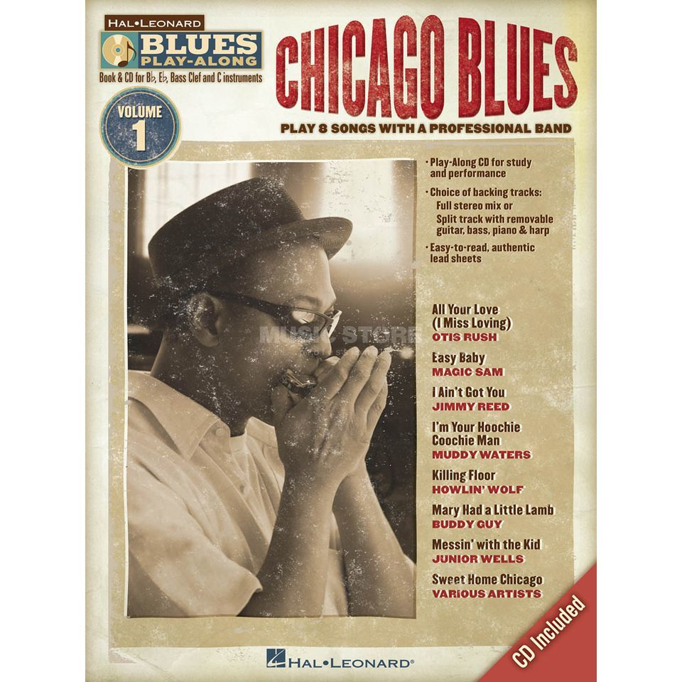 Hal Leonard Blues Play-Along:Chicago Blues Vol. 1 - C, Bb, Eb, Bass Inst. Produktbild