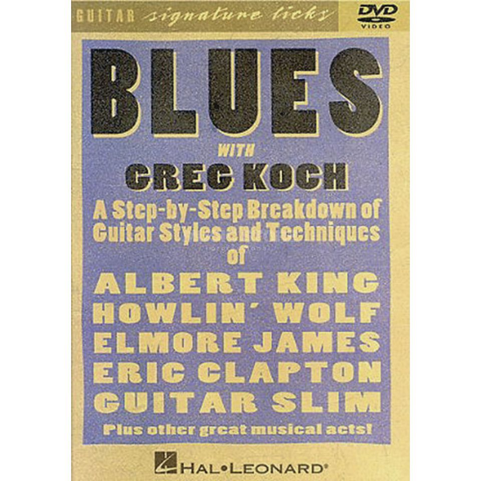 Hal Leonard Blues with Greg Koch Guitar Signature Licks, DVD Produktbild