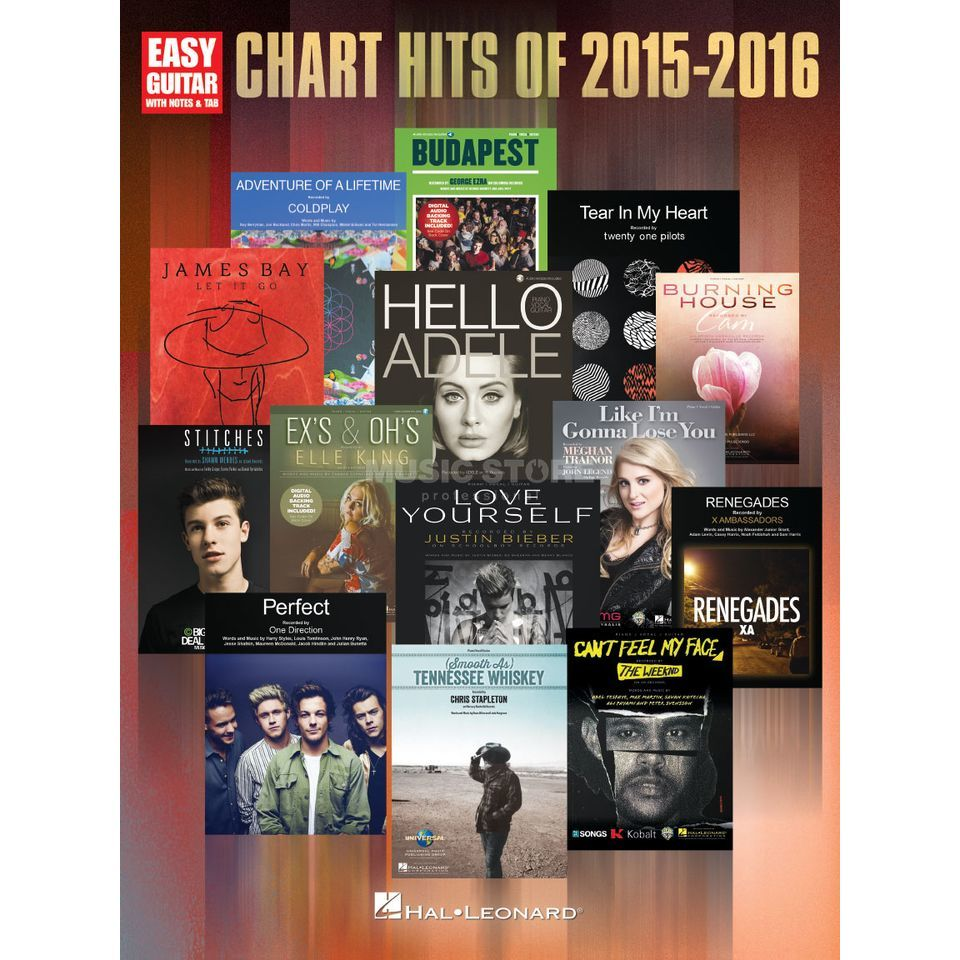 Hal Leonard Chart Hits Of 2015-2016 Easy Guitar Produktbild