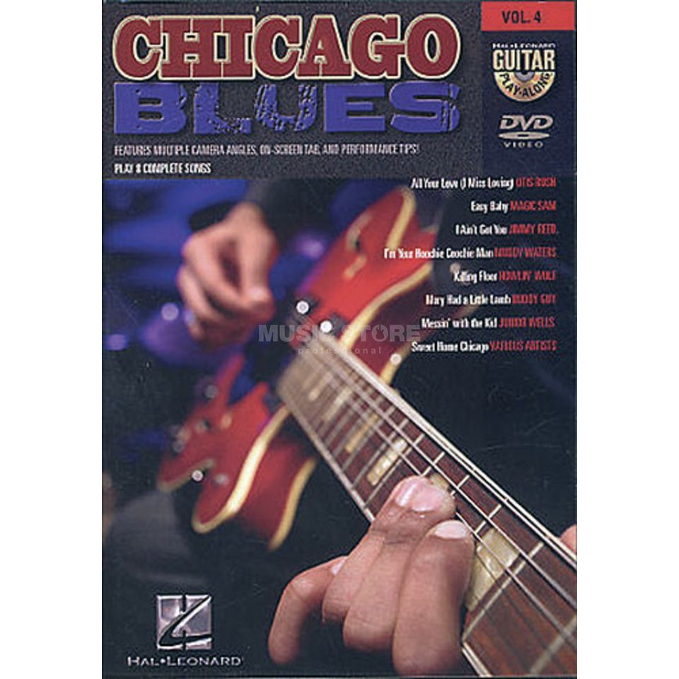 Hal Leonard Chicago Blues Guitar Play Along DVD Produktbillede