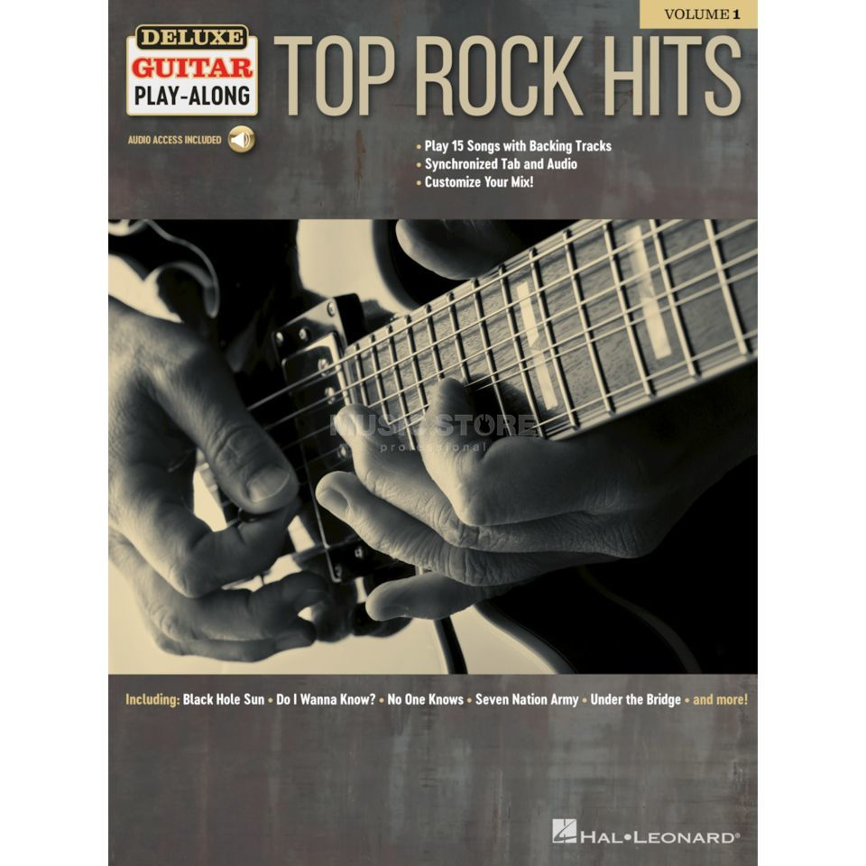 Hal Leonard Deluxe Guitar Play-Along: Top Rock Hits Product Image