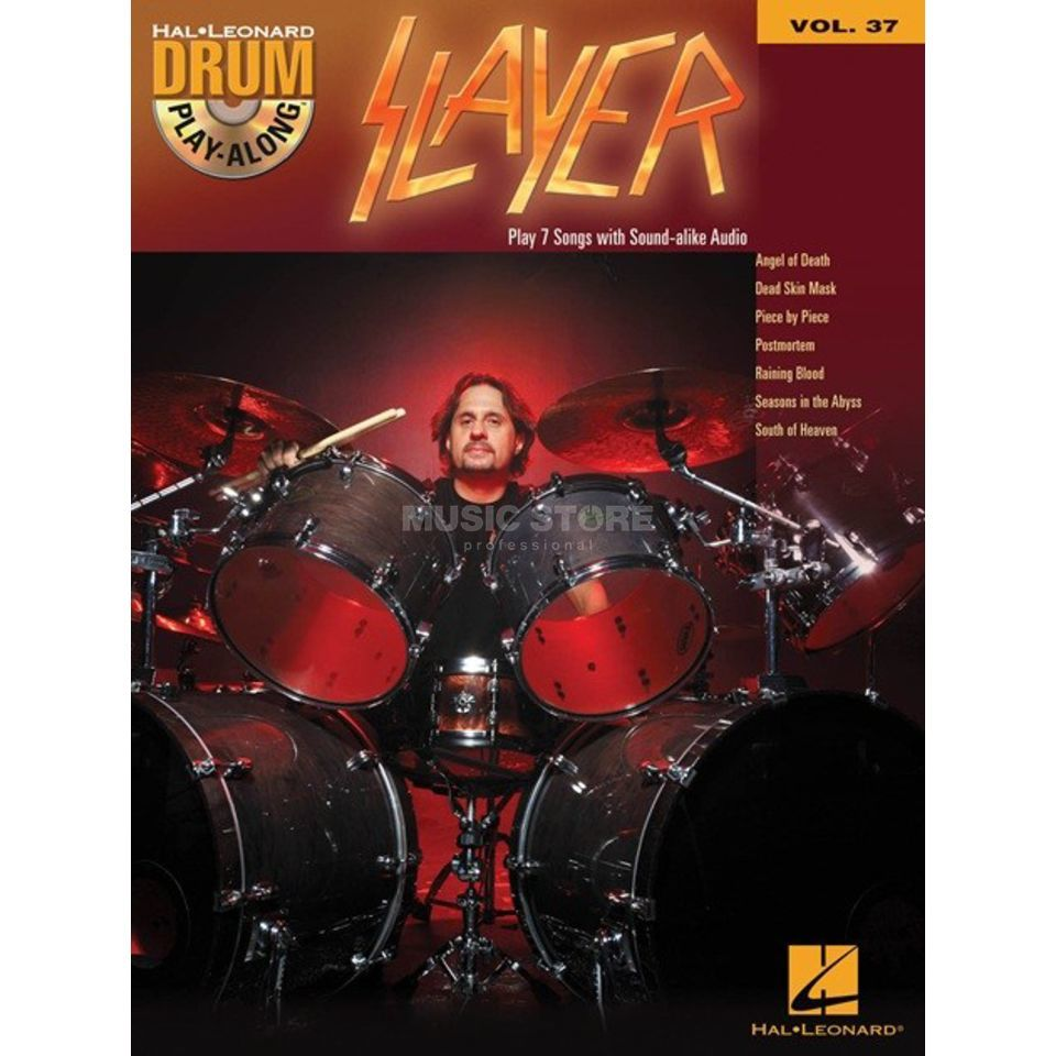 Hal Leonard Drum Play-Along: Slayer Vol. 37 Produktbillede