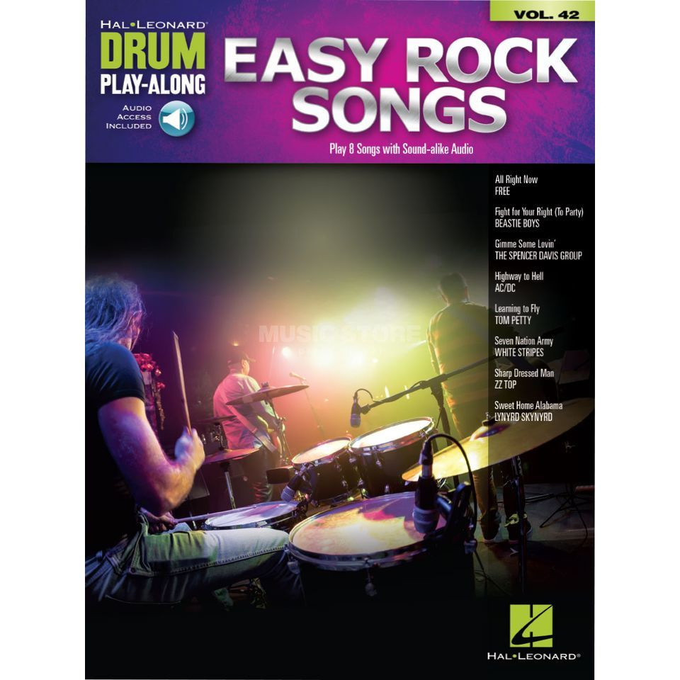 Hal Leonard Drum Play-Along Volume 42: Easy Rock Songs Image du produit