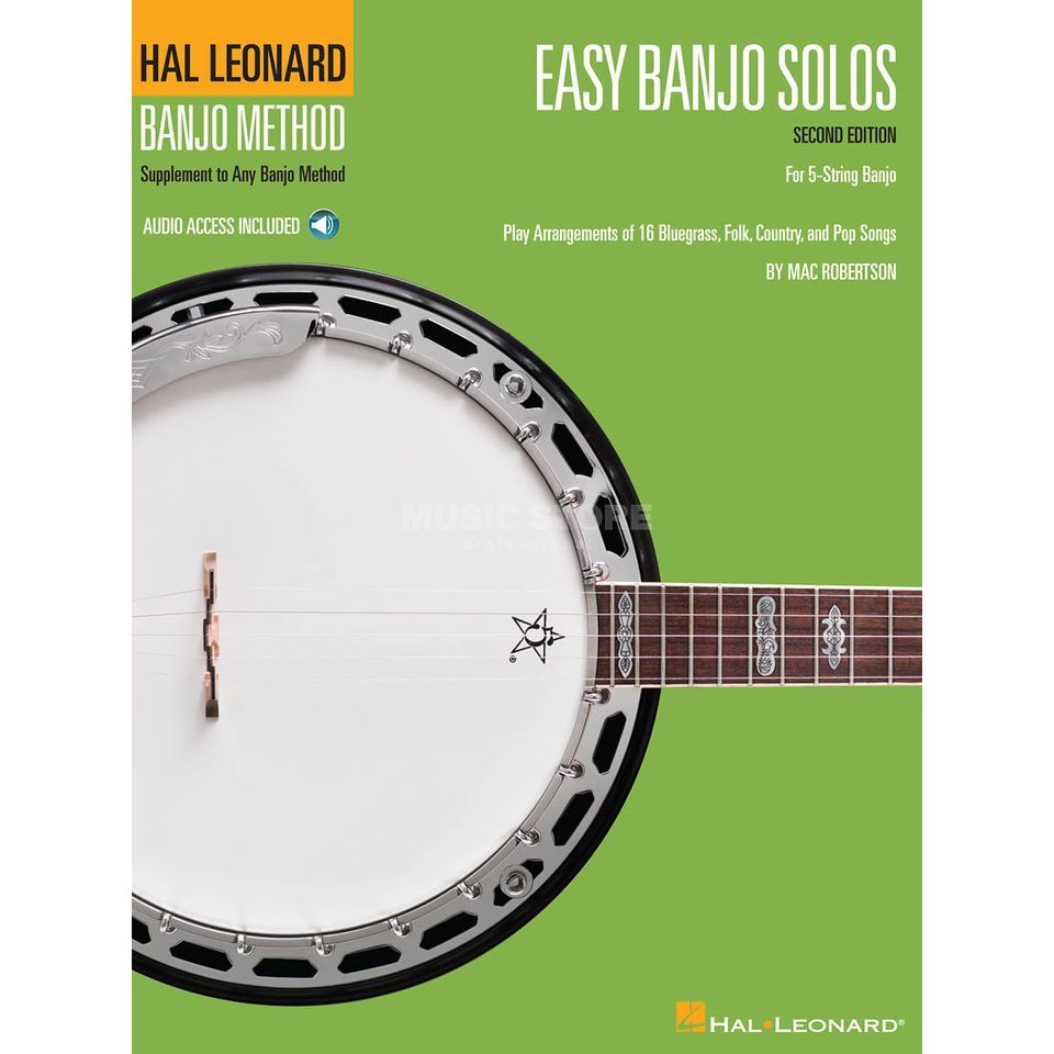 Hal Leonard Easy Banjo Solos for 5-String Second Edition Produktbillede