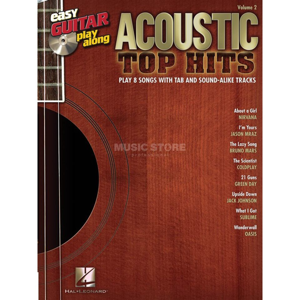 Hal Leonard Easy Play Along: Acoustic Top Hits Vol. 2, TAB und CD Produktbild
