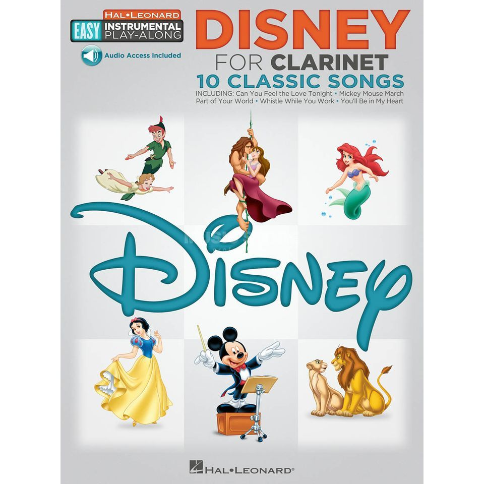 Hal Leonard Easy Play-Along: Disney Clarinet Produktbillede