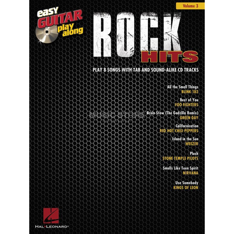 Hal Leonard Easy Play Along: Rock Hits Vol. 3, TAB und CD Produktbild