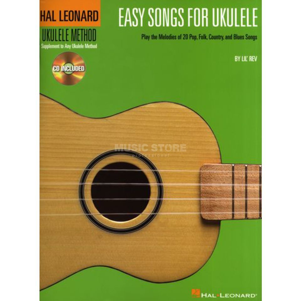 Hal Leonard Easy Songs For Ukulele Notenbuch und CD Produktbild