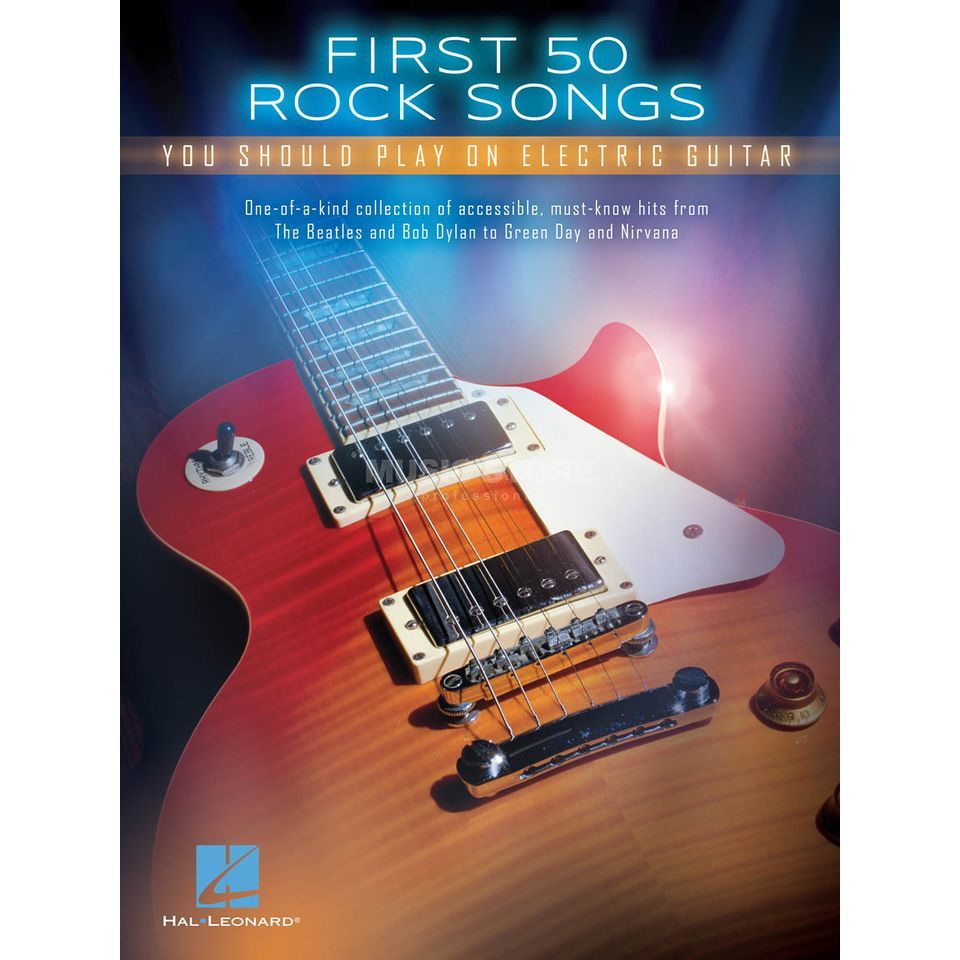 Hal Leonard First 50 Rock Songs You Should Play On Electric Guitar Produktbild
