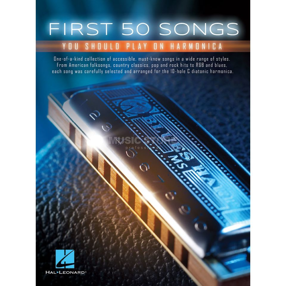 Hal Leonard First 50 Songs You Should Play On Harmonica Product Image