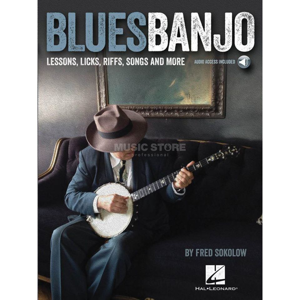 Hal Leonard Fred Sokolow: Blues Banjo Lessons - Licks, Riffs, Songs Produktbild