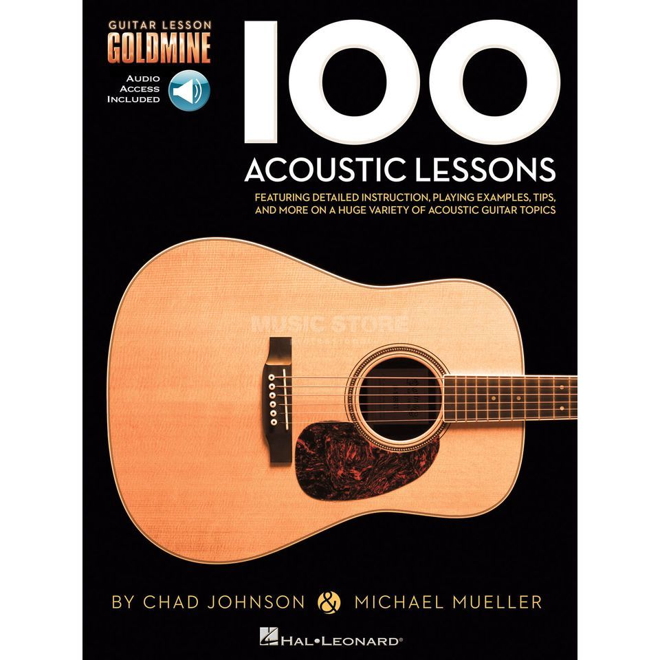 Hal Leonard Goldmine: 100 Acoustic Lessons Guitar Product Image