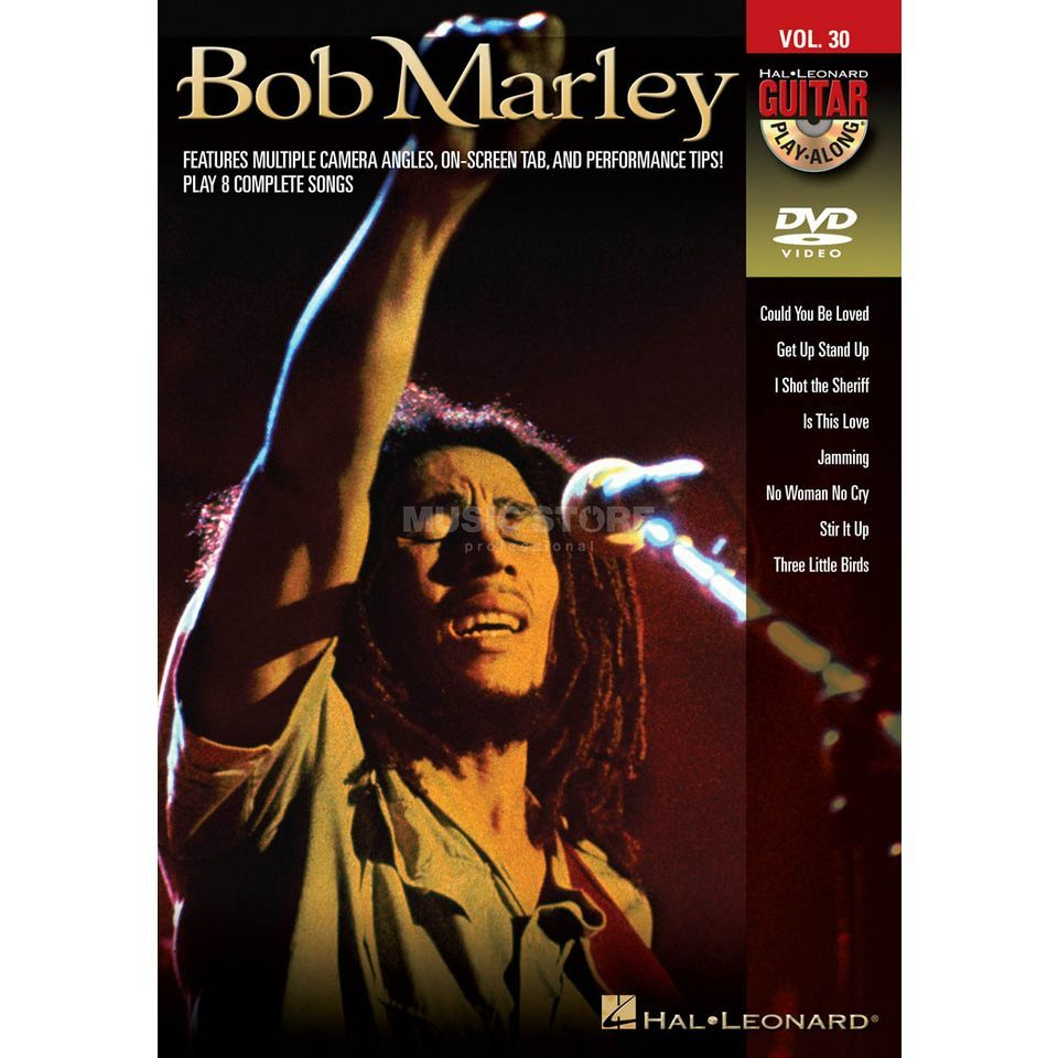 Hal Leonard Guitar Play-Along: Bob Marley Vol. 30, DVD Product Image