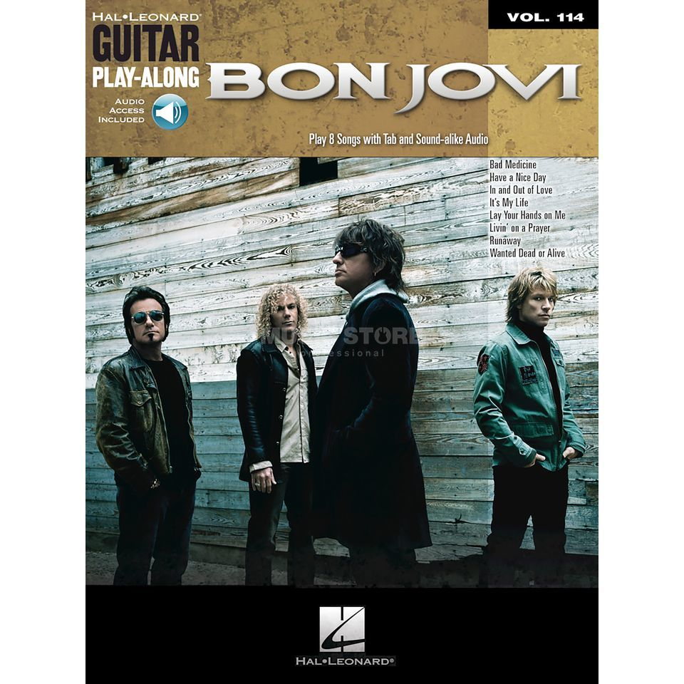 Hal Leonard Guitar Play Along Bon Jovi Book And Cd