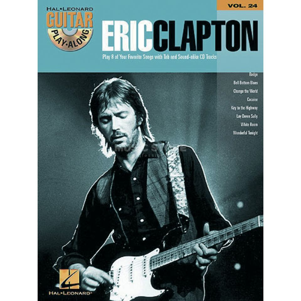 Hal Leonard Guitar Play-Along: Eric Clapton Vol. 24, TAB und CD Produktbild