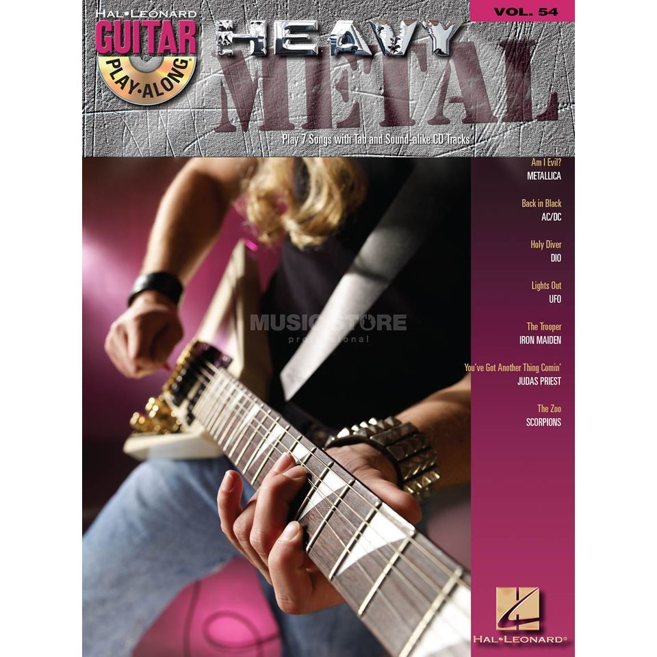 Hal Leonard Guitar Play-Along: Heavy Metal Vol. 54, TAB und CD Produktbillede