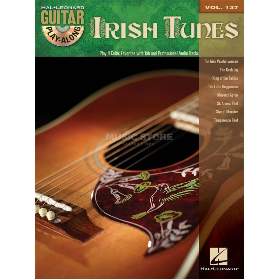 Hal Leonard Guitar Play-Along: Irish Tunes Vol. 137, TAB und CD Produktbillede