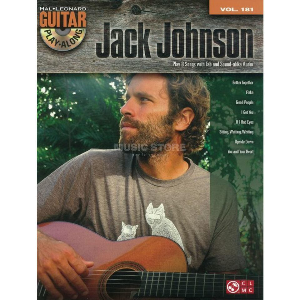 Hal Leonard Guitar Play-Along: Jack Johnson Vol. 181, TAB und CD Produktbild