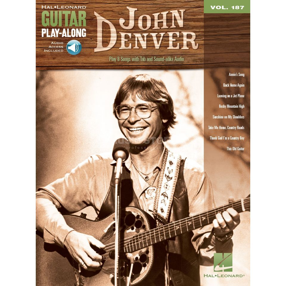 Hal Leonard Guitar Play-Along: John Denver Vol. 187, TAB und Download Produktbillede