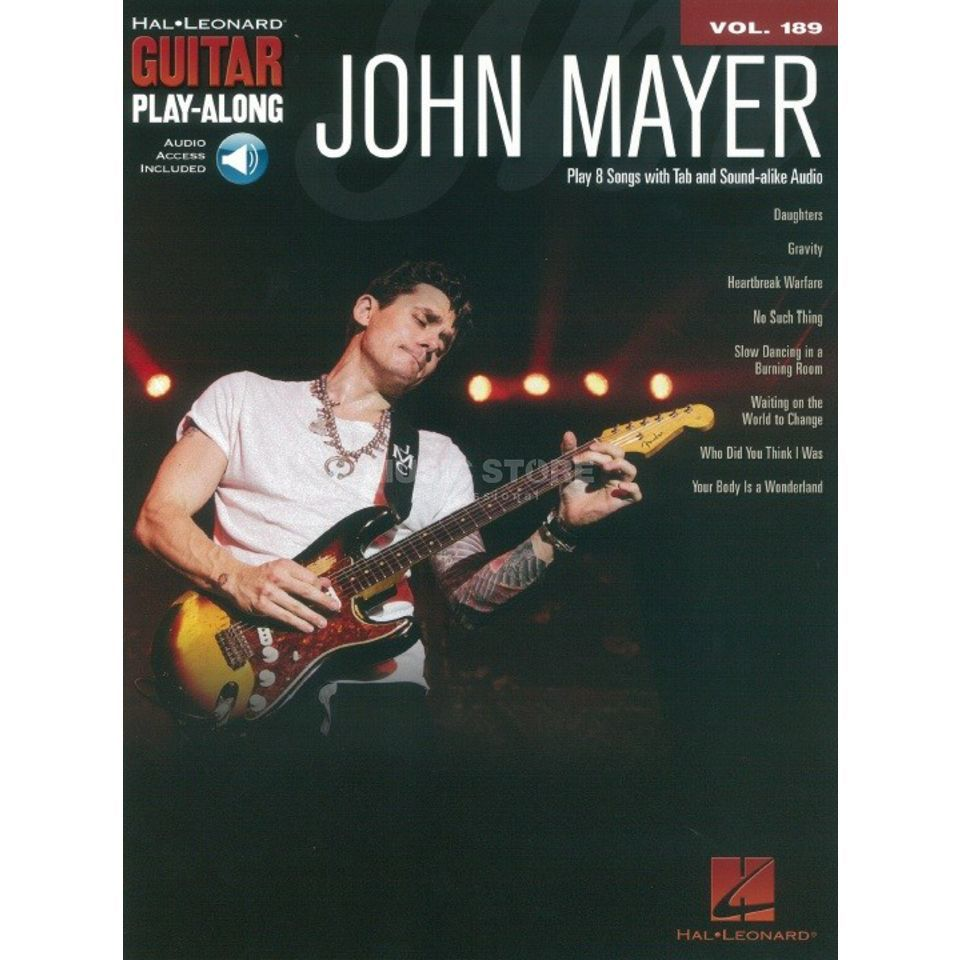 Hal Leonard Guitar Play-Along: John Mayer Vol. 189, TAB und Download Produktbild