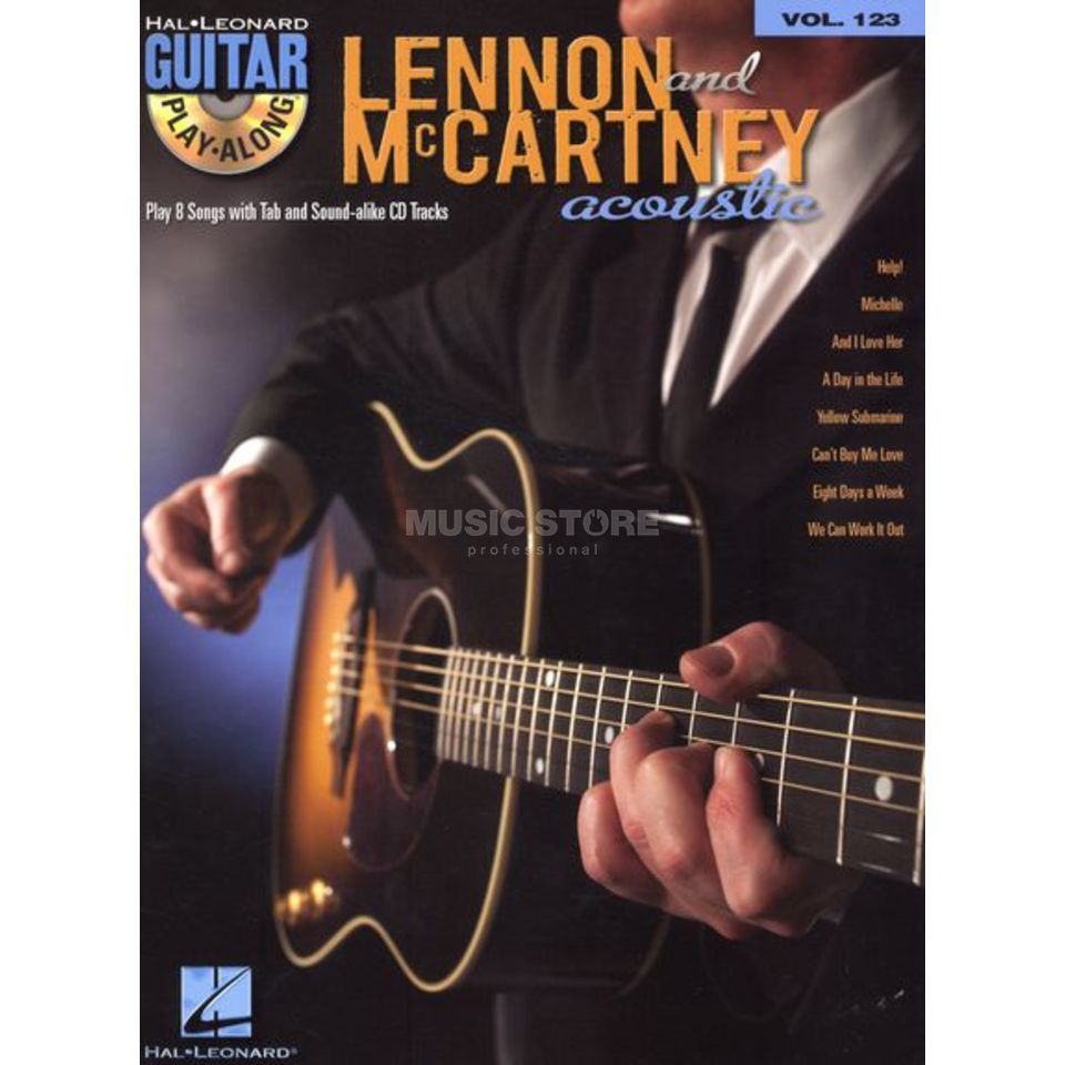 Hal Leonard Guitar Play-Along: Lennon & McCartney Acoustic Vol. 123, TAB und CD Produktbild