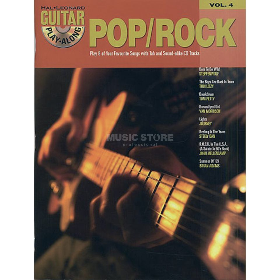 Hal Leonard Guitar Play-Along: Pop/Rock Vol. 4, TAB und CD Produktbillede