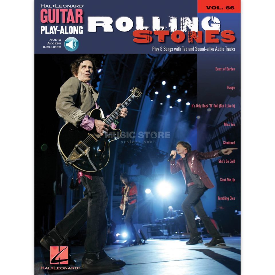 Hal Leonard Guitar Play-Along: Rolling Stones Vol. 66, TAB und CD Product Image