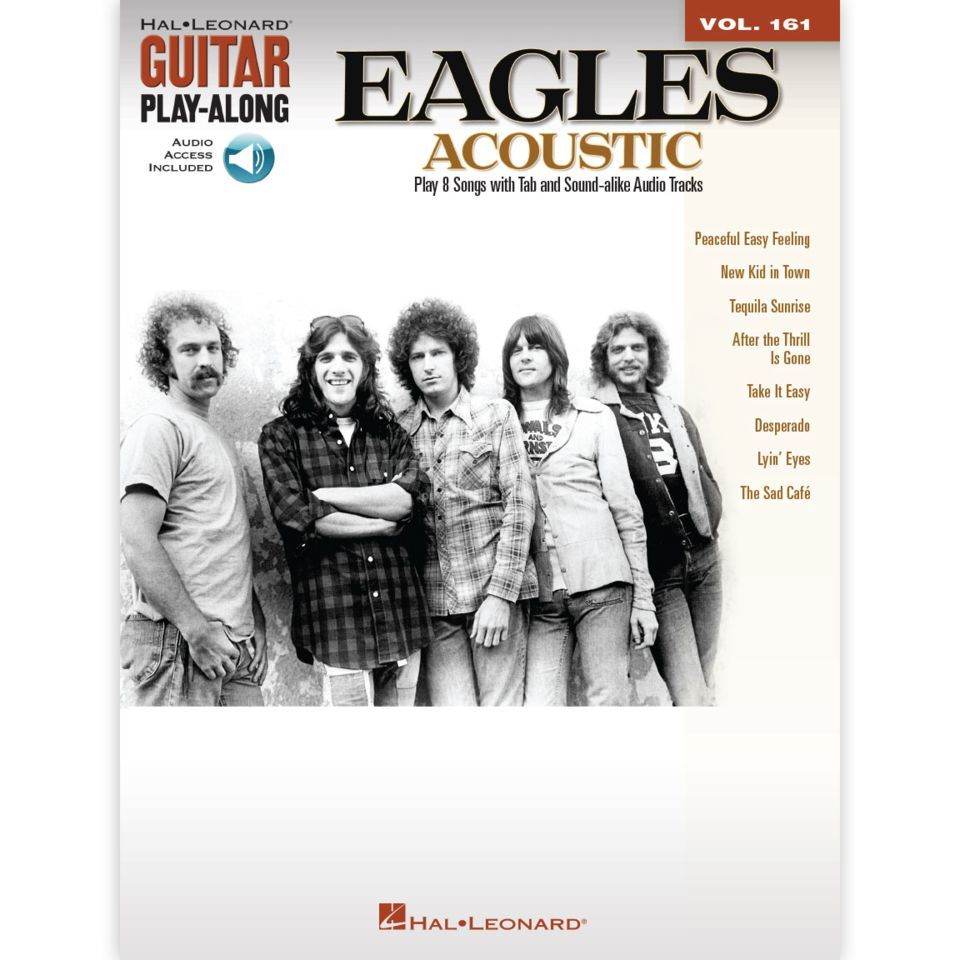 Hal Leonard Guitar Play-Along: The Eagles Acoustic Vol. 161, TAB and CD Produktbillede