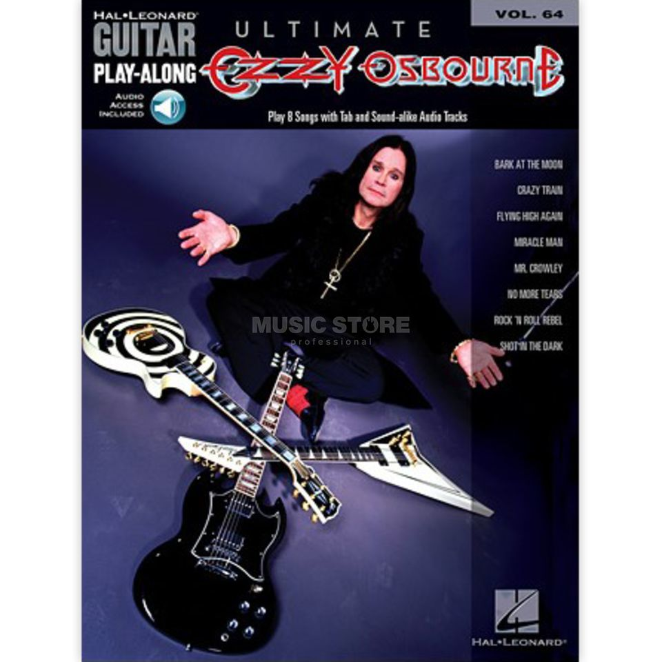 Hal Leonard Guitar Play-Along: Ultimate Ozzy Osbourne Vol. 64, TAB und CD Produktbillede